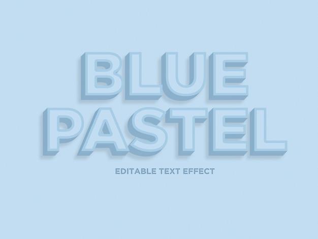 Effetto di testo blu pastello
