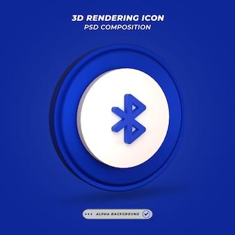 Icona bluetooth nel rendering 3d