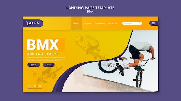 Modello di pagina di destinazione del concetto bmx