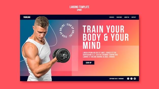 Modello di pagina di destinazione per l'allenamento del corpo