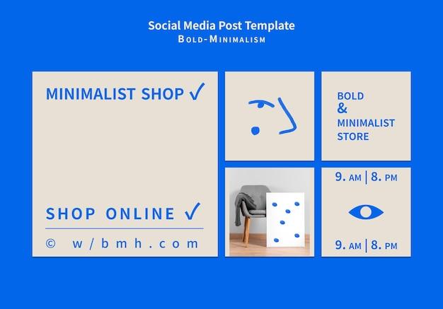 Post sui social media minimalisti audaci