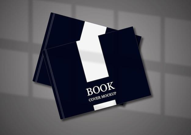 Design mockup copertina del libro con elegante ombra