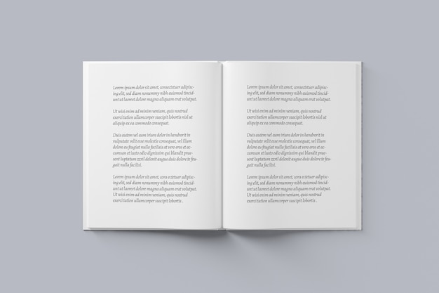 Mockup di diffusione di libri e riviste