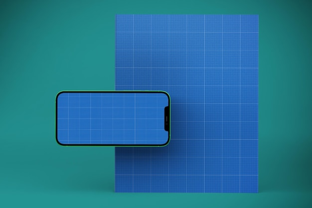 Book & smart phone mockup