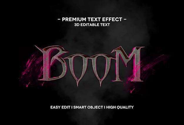 Boom modello di testo effetto stile testo 3d