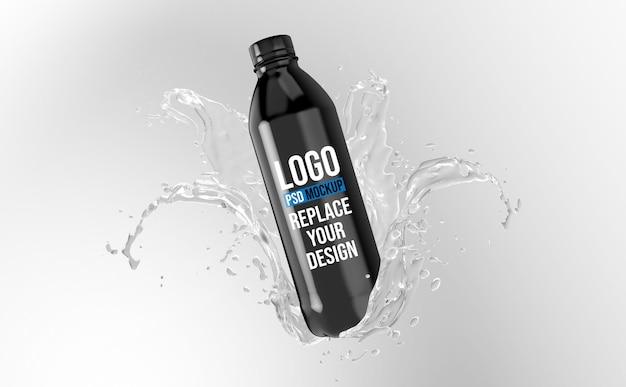 Bottiglia 3d rendering mockup design