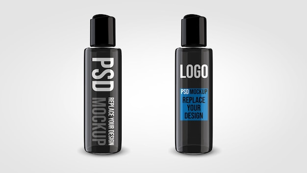 Bottiglia di gel mockup 3d rendering design
