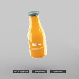 Bottiglia di succo di frullato mockup design isolato