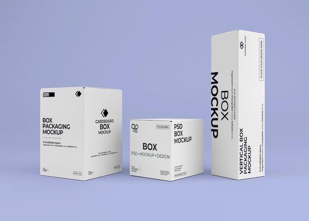 Design mockup collezione di scatole