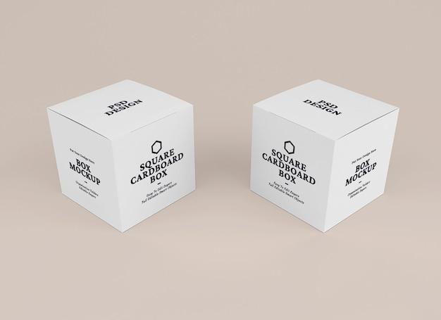 Design del mockup della scatola nel concetto di imballaggio