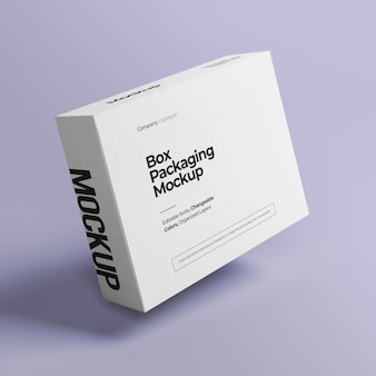 Scatola mockup con colore variabile
