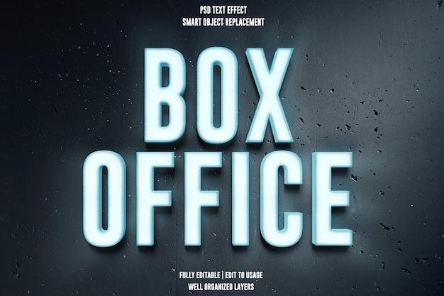 Effetto testo box office psd premium