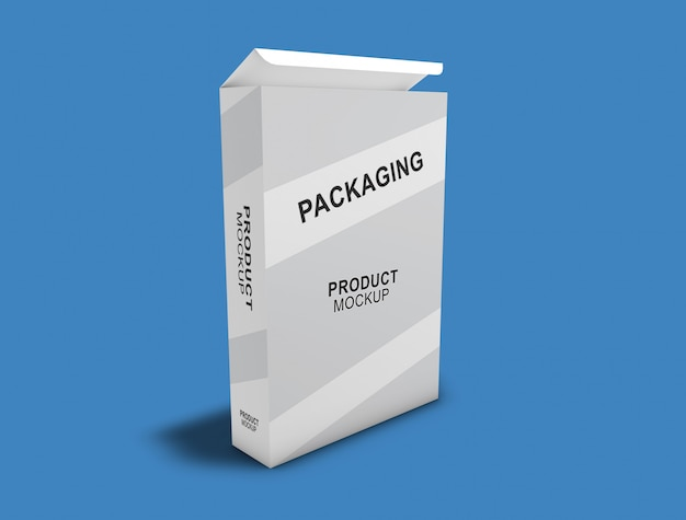 Box packaging mock-up