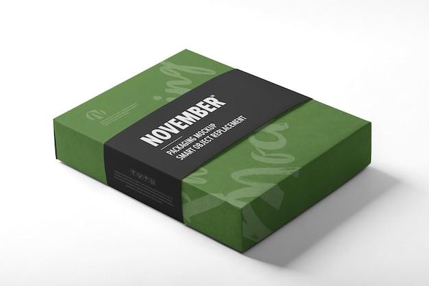 Modello di mockup di imballaggio della scatola