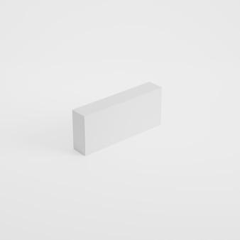 Mockup di prodotto di imballaggio in scatola in rendering 3d