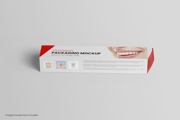 Mockup di dentifricio confezione scatola isolato