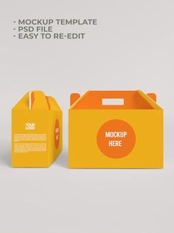 Mockup di imballaggi in carta scatola