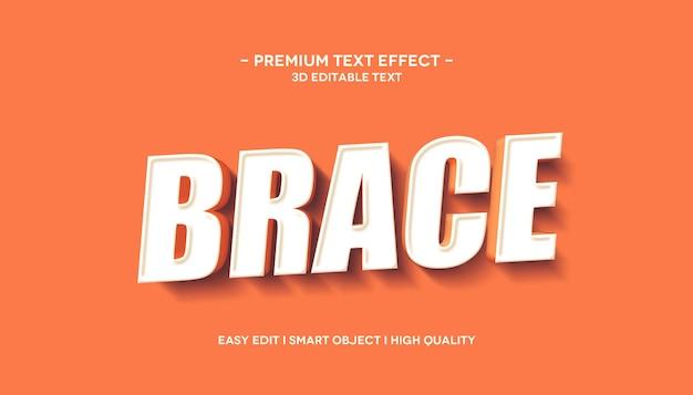 Brace effetto stile testo 3d