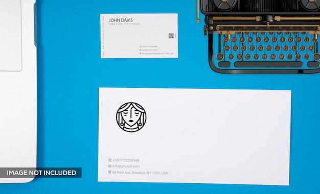 Branding in blue mockup