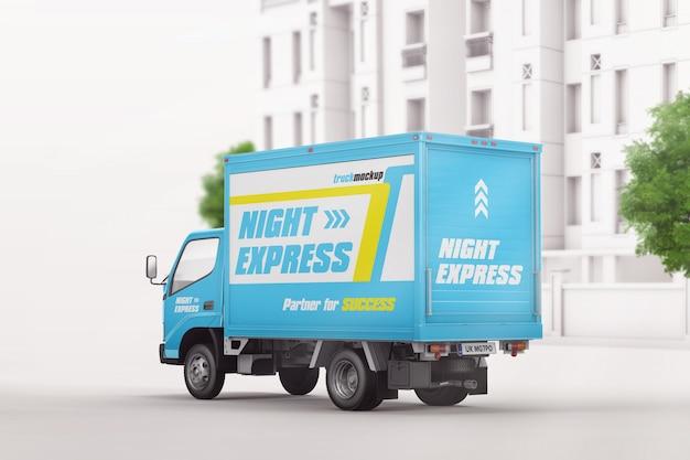 Mockup di camion carico consegna branding