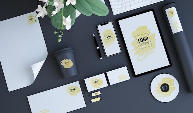 Elementi di branding mock up