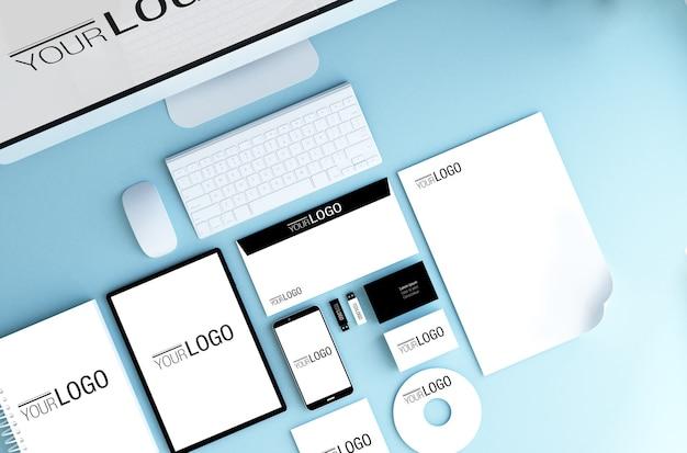 Elementi essenziali del branding mock up
