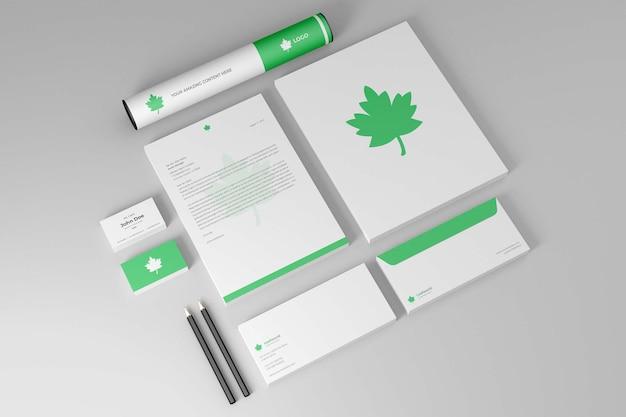 Mockup di kit di branding