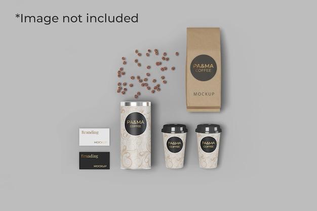 Mockup di branding per caffetteria isolata