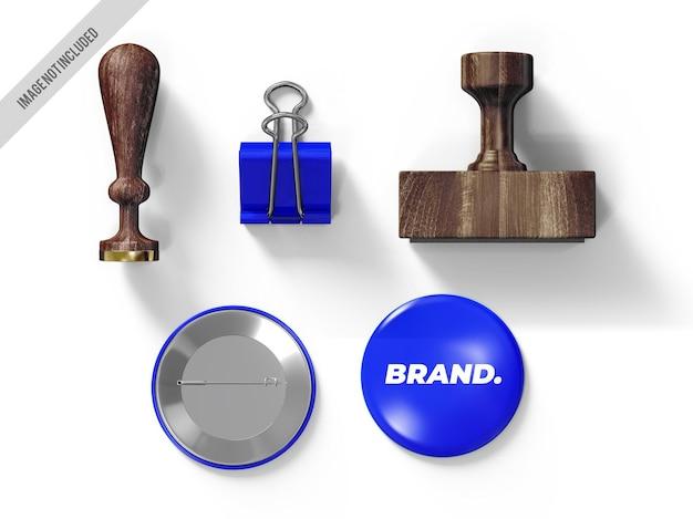 Mockup del timbro del marchio