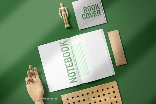 Mockup di libri di cancelleria per il branding