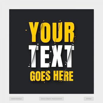 Interrompere l'effetto del testo
