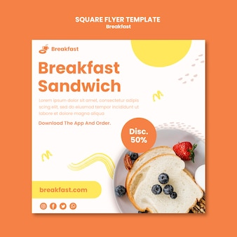 Volantino quadrato per panino colazione
