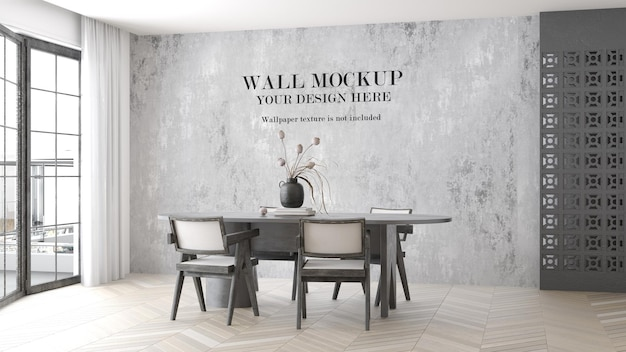 Mockup di parete del soggiorno luminoso