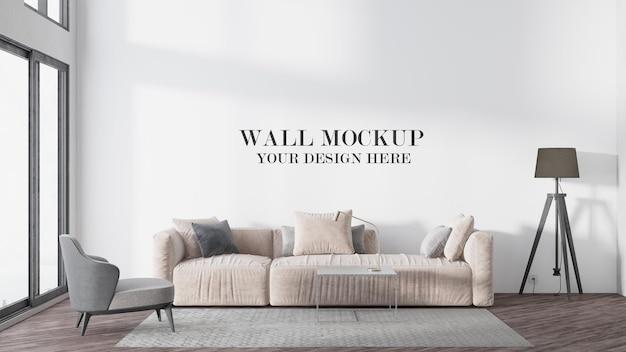 Modello di parete moderna luminosa della stanza
