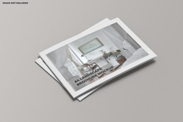 Brochure a4 landscape mockup