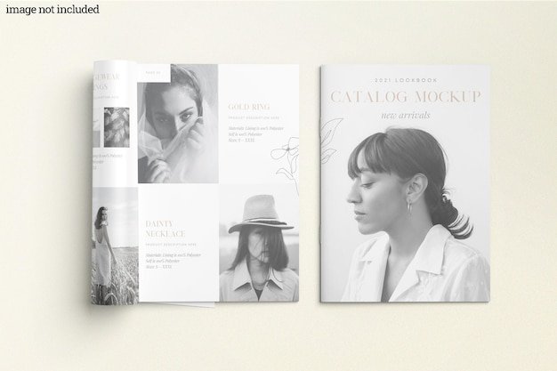 Brochure catalogo mockup