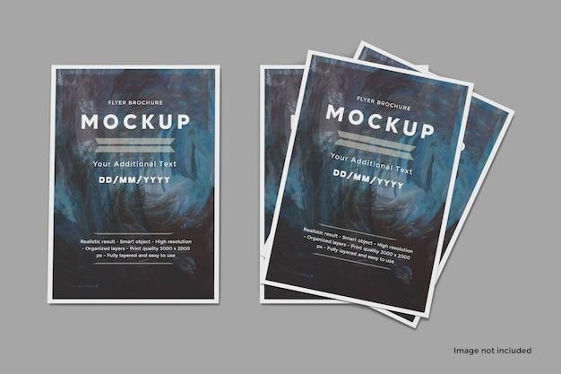 Brochure flyer mockup set