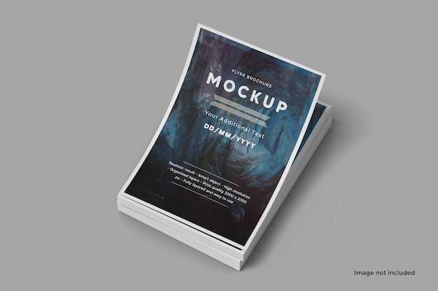 Brochure flyer stack mockup