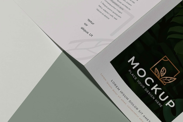 Brochure studio design mockup