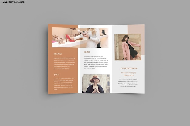 Brochure trifold mockup design isolato