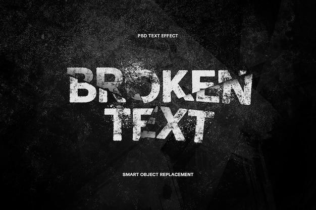 Modello di effetto di testo rotto