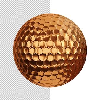Illustrazione di bronzo palla da golf isolato