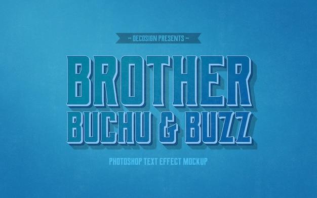 Fratello buzz buchu mockup effetto testo