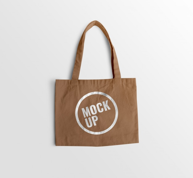 Mockup marrone tote bag