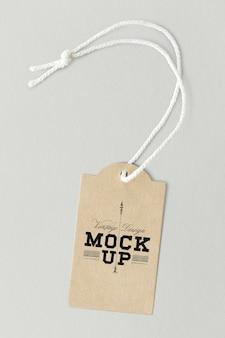 Mockup di etichette di design vintage marrone
