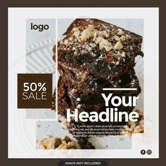 Brownies instagram banner post template