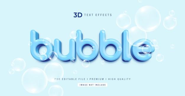 Bubble 3d testo effetto stile modello