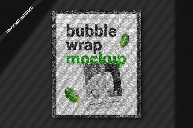Mockup di avvolgimento di bolle