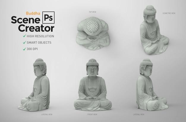 Buddah. creatore di scene. 3d