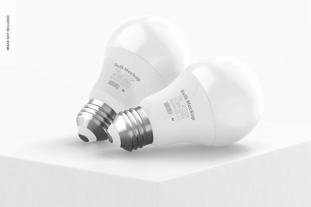 Modello di lampadina, appoggiato